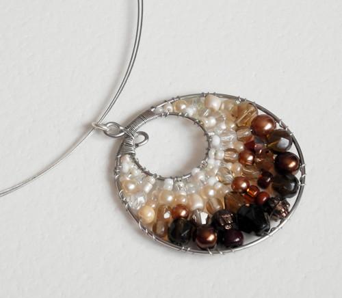Podzimní variace - náhrdelník