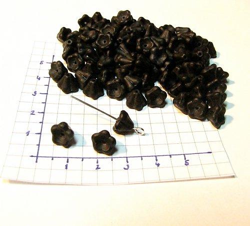 Černé zvonečky 6/8 mm 20 ks