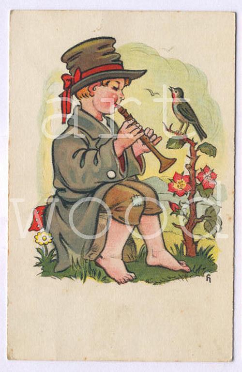 Malý muzikant - pohlednice č.1094
