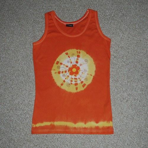 Pomerančové tílko v L - SLEVA z 250,- Kč