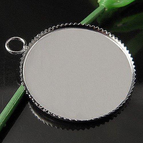 přívěsek lůžko kruhové, 25mm stříbro
