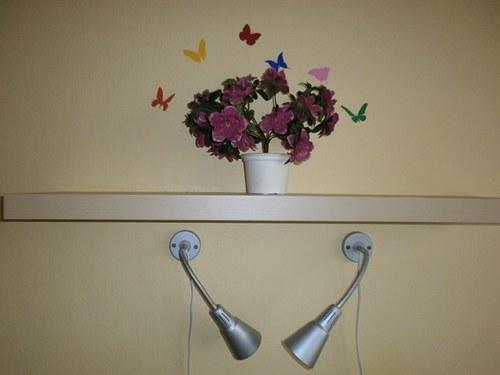 Samolepka - dekorace na zeď - Barevní motýli