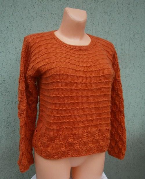 oranžový svetřík