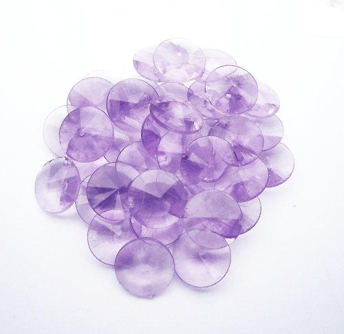 """Plastová \""""broušená\"""" fialová kolečka (7 ks)"""