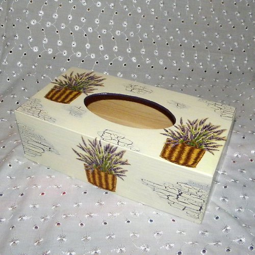 Levandulová  krabička na kapesníčky
