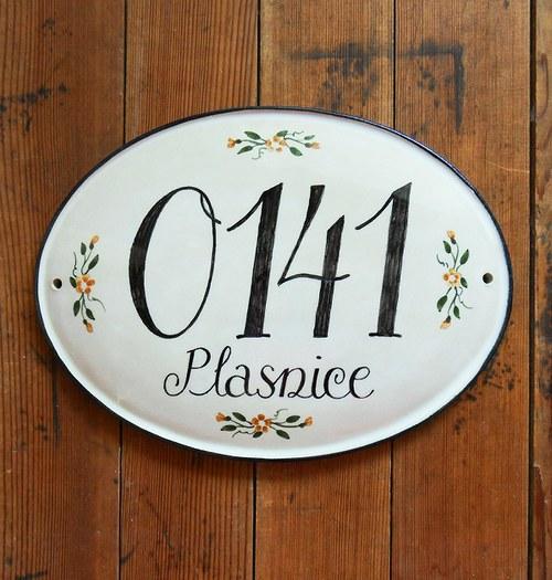 Domovní číslo na zakázku - Plasnice