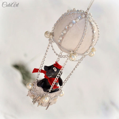 Létající balon s figurkou - anglický kokeršpaněl