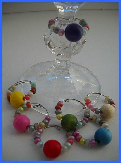 Glass charm-ozdoba na skleničky, rozlišovač