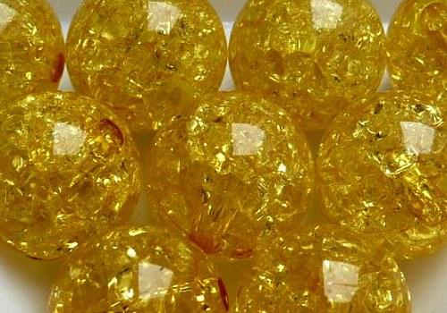 Plast. kraklovaná kulička 12 mm - žlutá / 2 ks