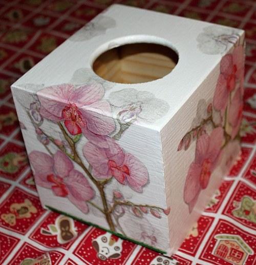 Orchidej jemná - kapesníky