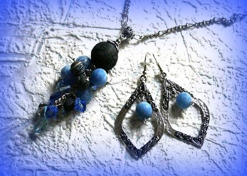 Blue velvet set