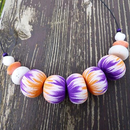 SLEVA Exotic collection - korále Purple & Orange
