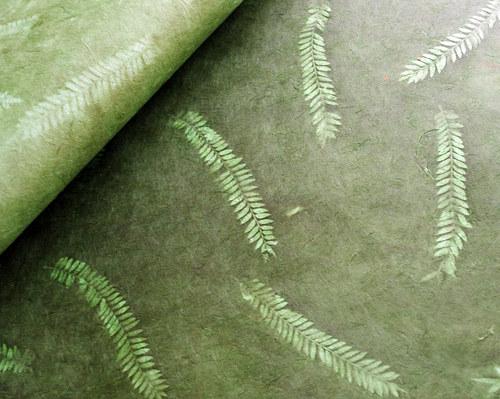 Ruční papír Lokta A4 - zelený