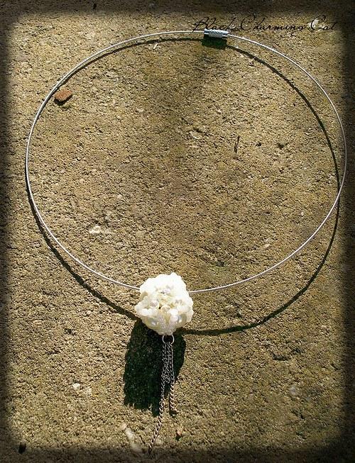 SLEVA - Sněhová vločka - náhrdelník