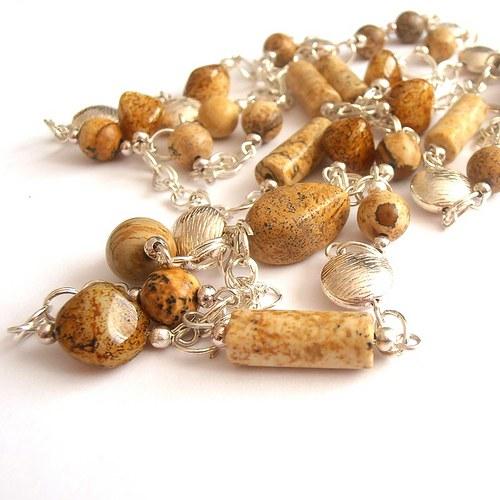 Jaspis - náhrdelník