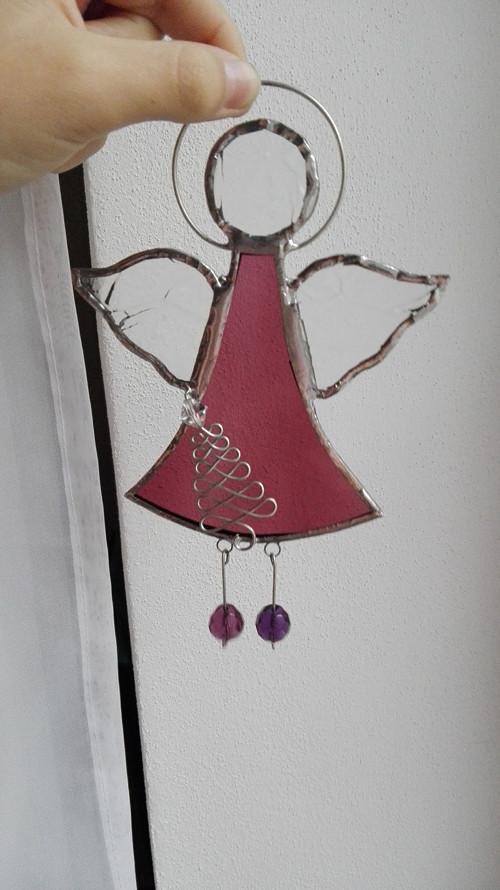 Andílek fialový 15,5 cm