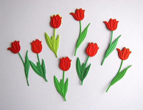 Tulipány červené - 8 ks