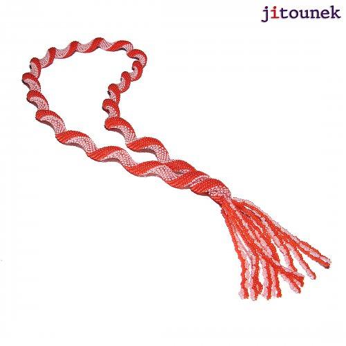 Červený kroucený náhrdelník