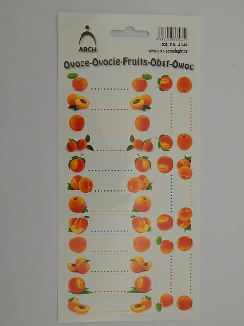 Samolepky etikety meruňky