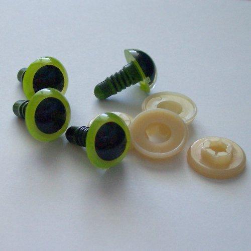 Bezpečnostní oči - zelené, 14 mm