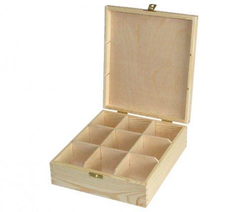 krabička na čaj 9 přihrádek DL287