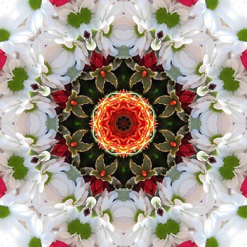 Mandala slavnostní kytice