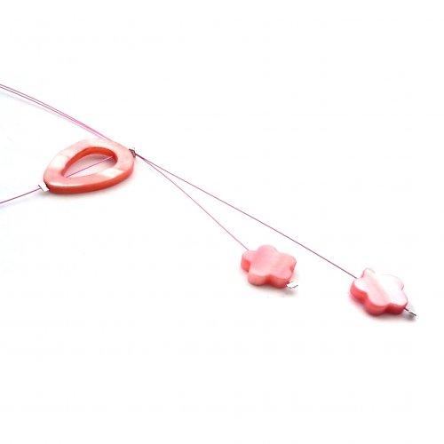 Růžový perleťový náhrdelník