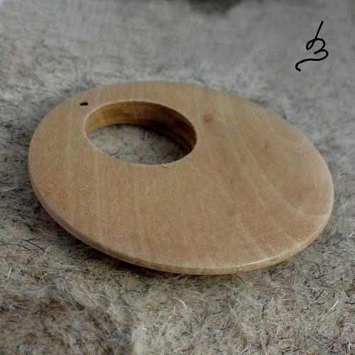 Dřevěný donut - 2 ks