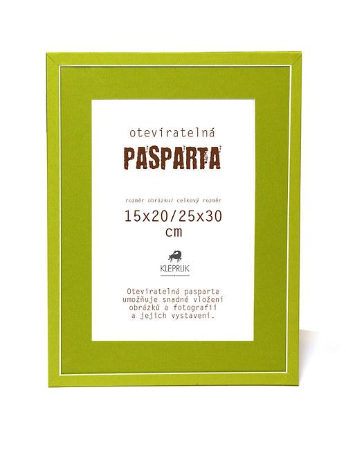 Pasparta  Happy Green na obrázek 20x30 cm
