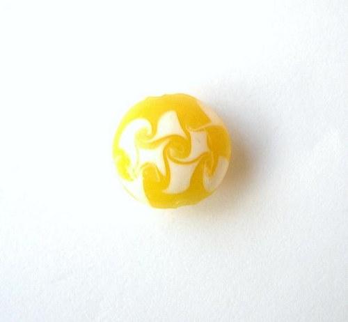 Skleněný korálek lentilka, 15 mm - VÝPRODEJ