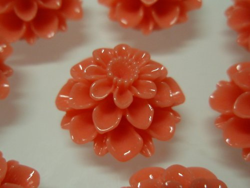 19863-B06 Kabošon květ TMAVĚ LOSOSOVÝ, bal. 2ks