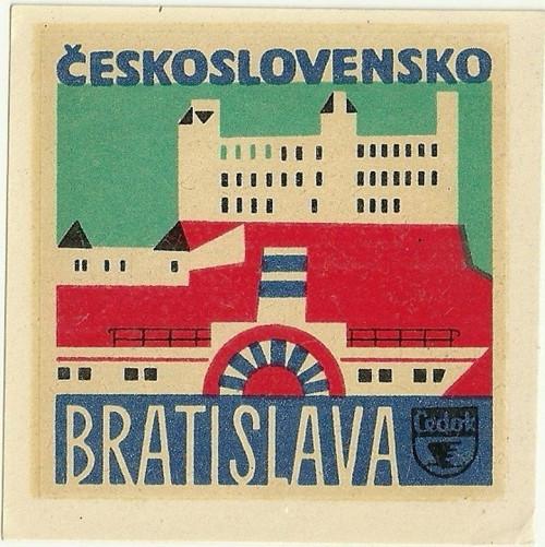 Hotelové nálepky styl Brusel Bratislava