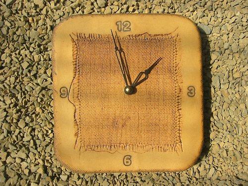 Keramické hodiny - Látka vtlačená - Sleva