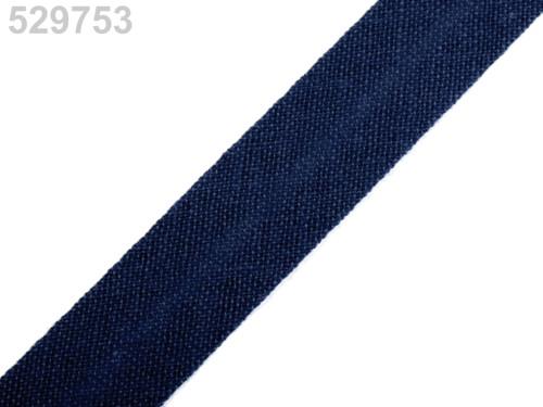 Šikmý proužek 14 mm zažehlený (5m) - Dress Blues