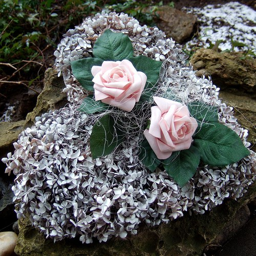 Srdce-Hortenziové s růžemi