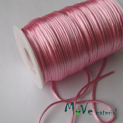 Šňůra Ø2mm saténová, růžová, 1m