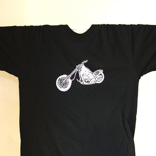 Motorkářské tričko v černé