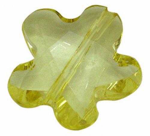 0800301/Květina plast žlutá, 3 ks