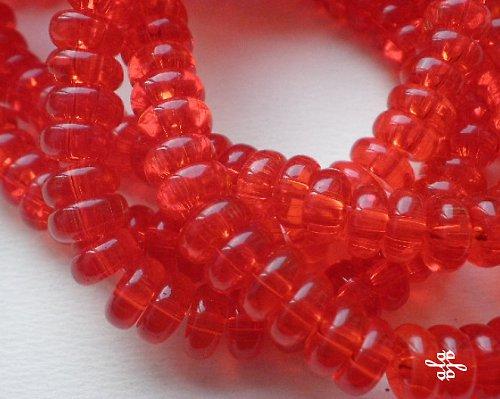 Červené rondelky - 10ks