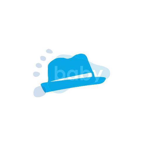 Razítko klobouk 6 x 4 cm