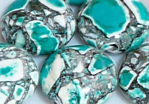 Marble , kámen, mozaika, 2 ks, 10-12 mm - zelená