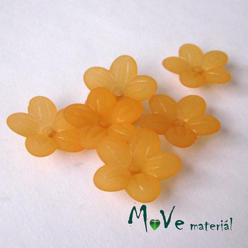 Akrylový transparentní květ 20mm, 6ks, pomerančový