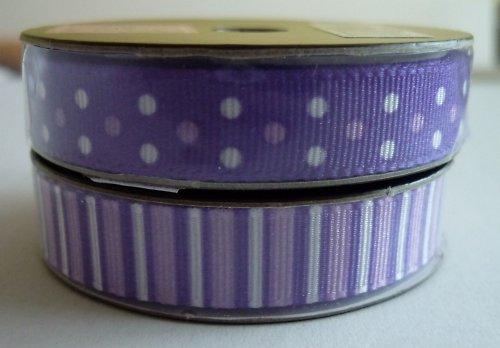 Stužka fialová 1,5 m - puntíky