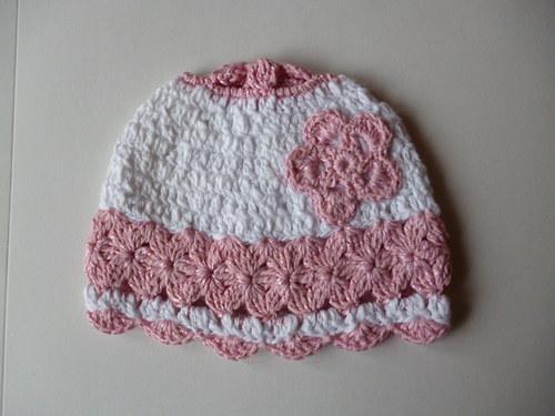 jarní háčkovaná čepice