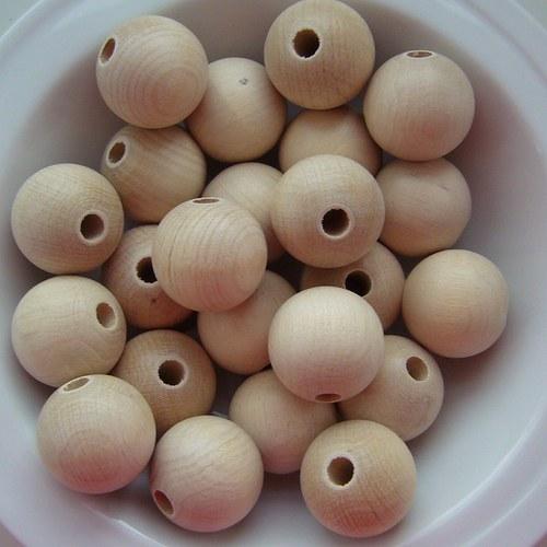 dřevěné korálky 25mm