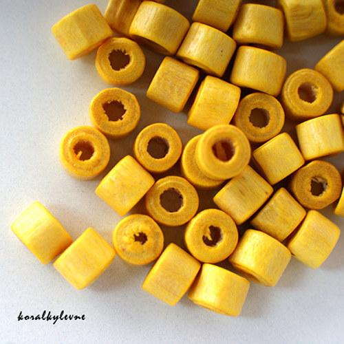 Donut dřevěný žlutý 40ks!