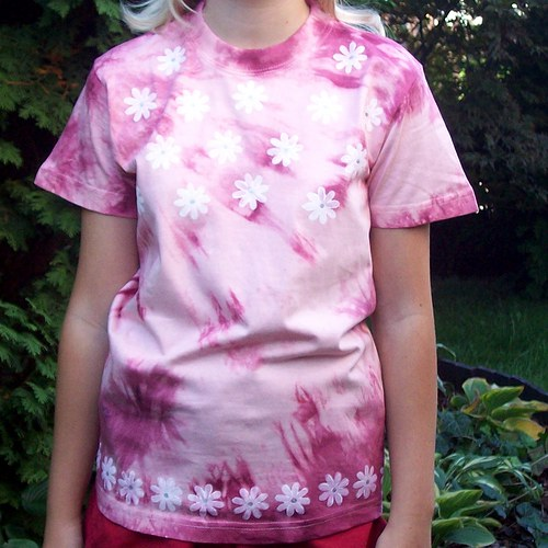 Dívčí kytičkované tričko