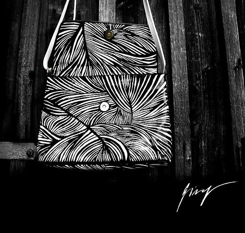 Černo - bílá - girafíí zebralková kabelka