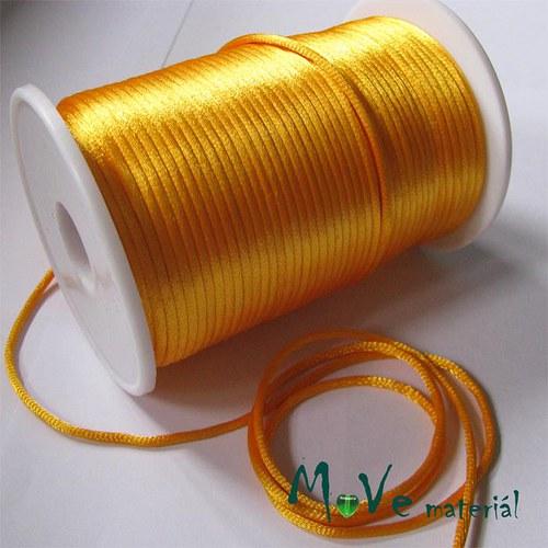 Šňůra Ø2mm žlutooranžová,1m