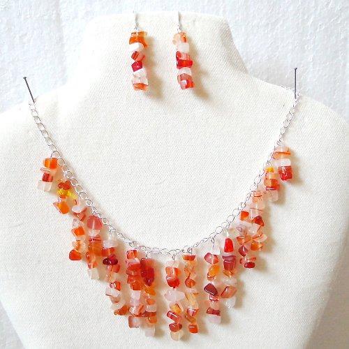 Karneolový náhrdelník